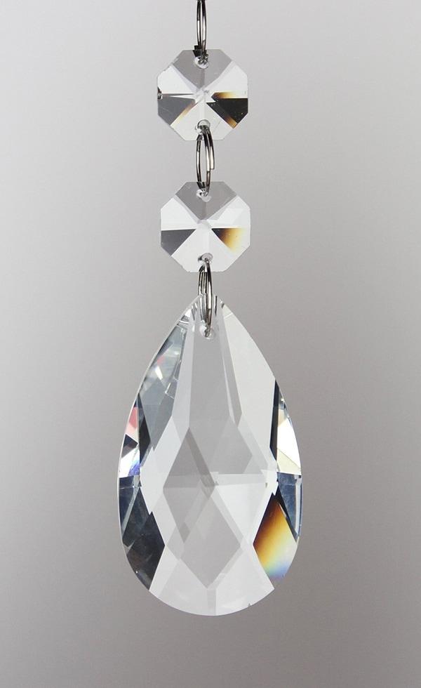 crystals used to make DIY crystal vanity light