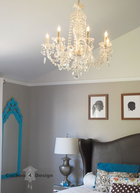 DIY crystal chandelier