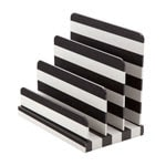 black and white stripe See Jane Work Paperboard Letter Sorter