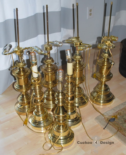 ugly brass lamps