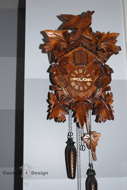 brown cuckoo clock with light sensor