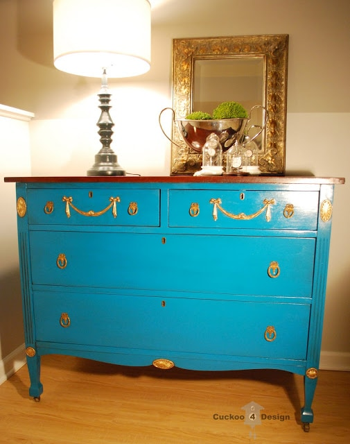 lagoon dresser and grey lamp