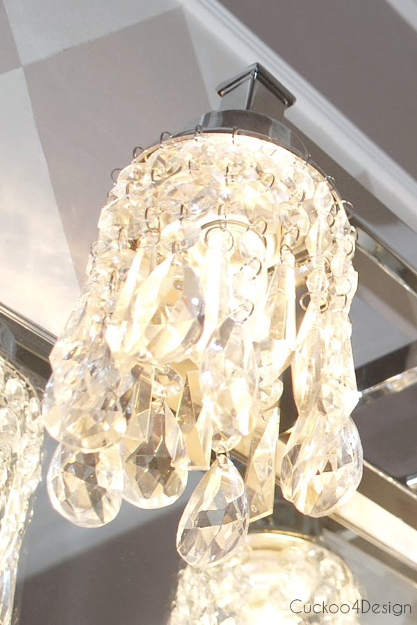 Diy Crystal Vanity Light Shades Cuckoo4design