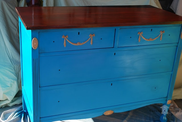 lagoon dresser before gold leafing
