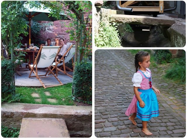 sewage river and patio in Germany with Bavarian princess