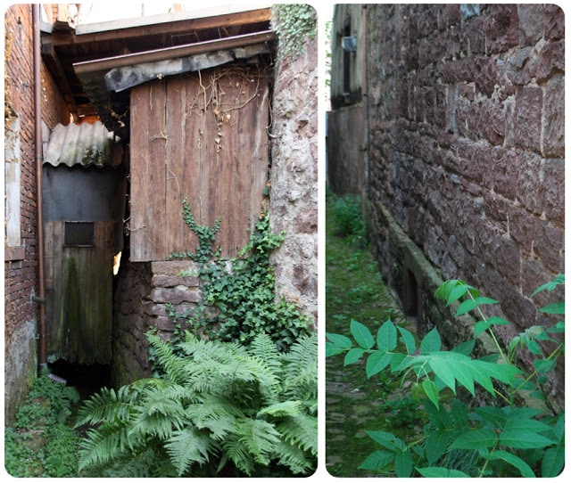 outhouse over old sewage canal