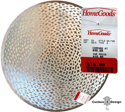 $15 HomeGoods clearance bowl converted to ceiling fixture