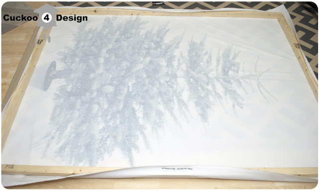 stretching fabric over a wood frame