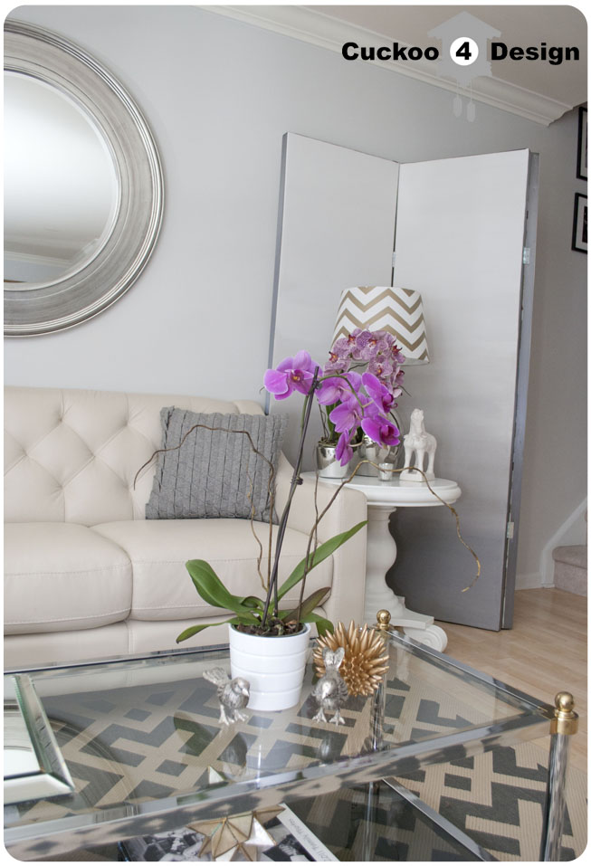 DIY grey ombre room divider with grey grey Overstock rug