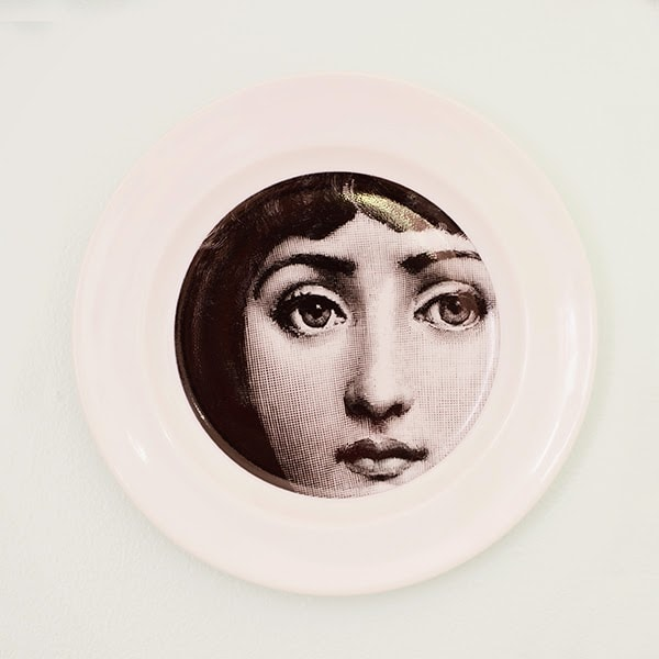 DIY black and white plates with faces