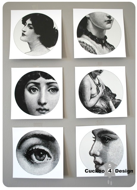 Piero Fornasetti stickers
