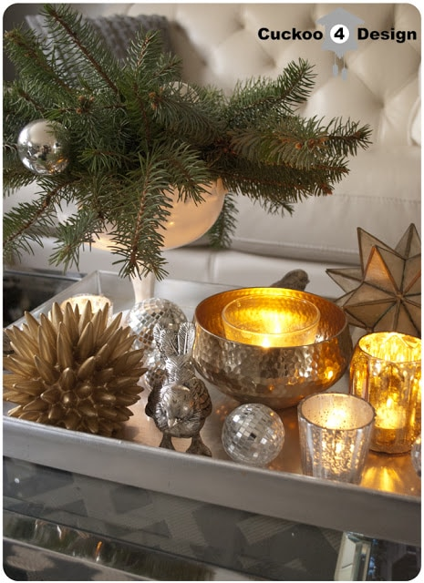 Nate Berkus for Target gold hammered bowl and sea urchin