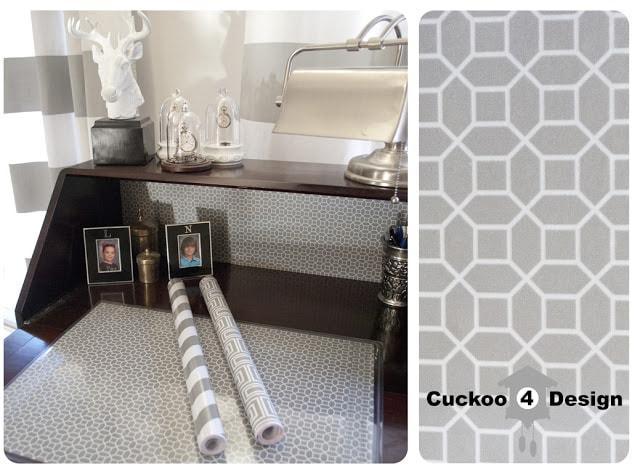 grey graphic desk pattern