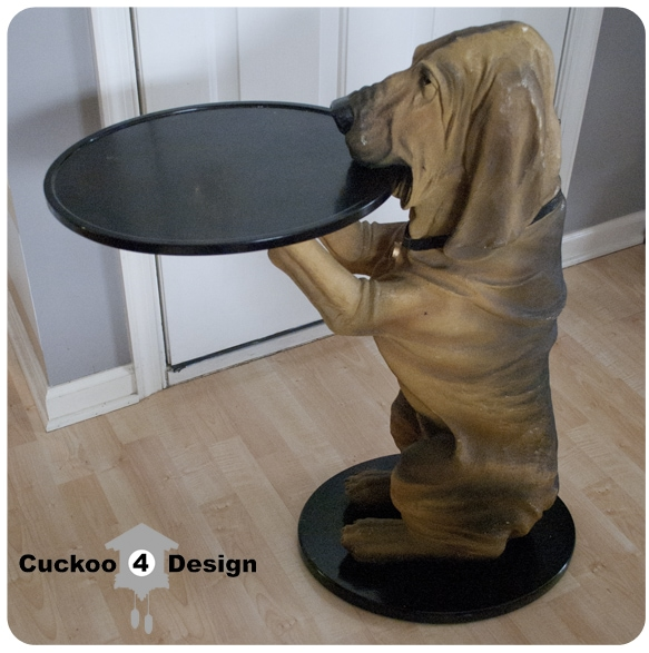 Bombay furniture dog with tray