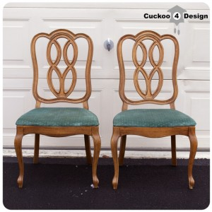 vintage 1965 Thomasville Chairs makeover