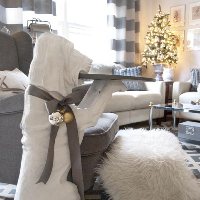 elegant grey and white Christmas decor ideas