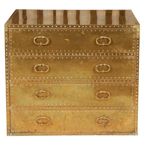 antique brass plated dresser