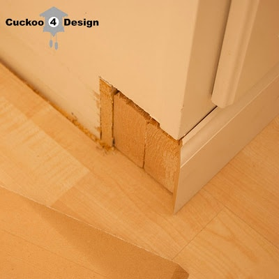 2x4s under vanity to replace toe kick