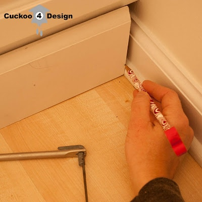 using a coping saw for under cabinet molding