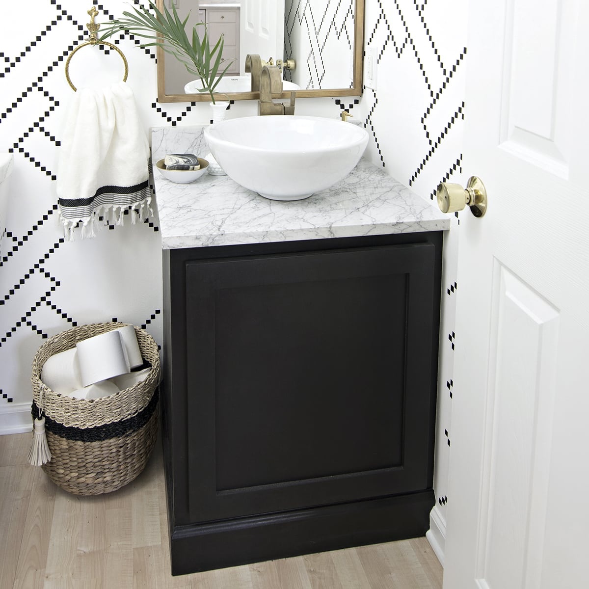 Bathroom Cabinet Kick Plate Makeover Cuckoo4design