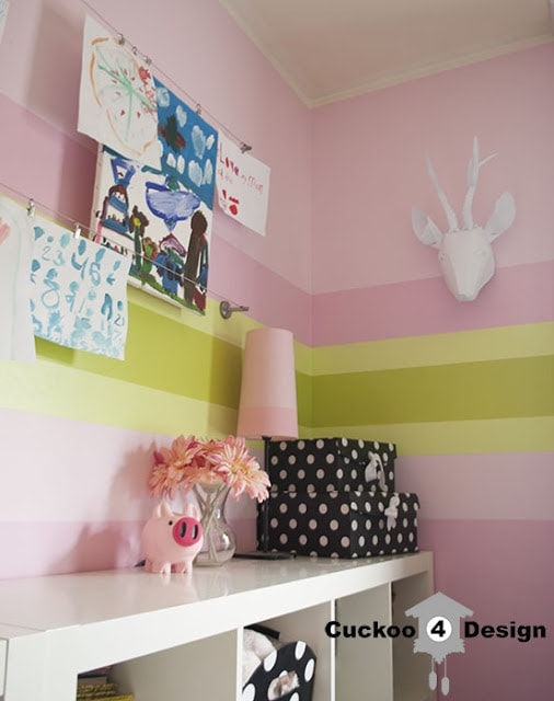 displaying children's artwork with Ikea items