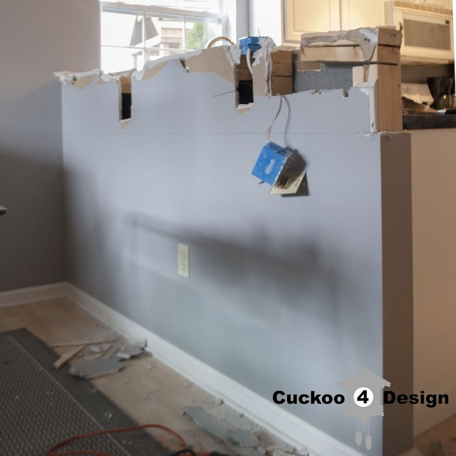 DIY cutting a wall down