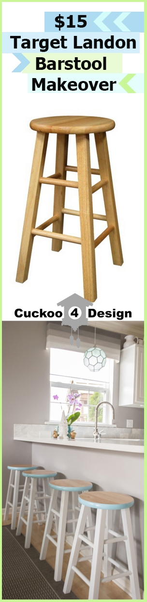 Cool Wooden Counter Stool Makeover Cuckoo4Design Ibusinesslaw Wood Chair Design Ideas Ibusinesslaworg