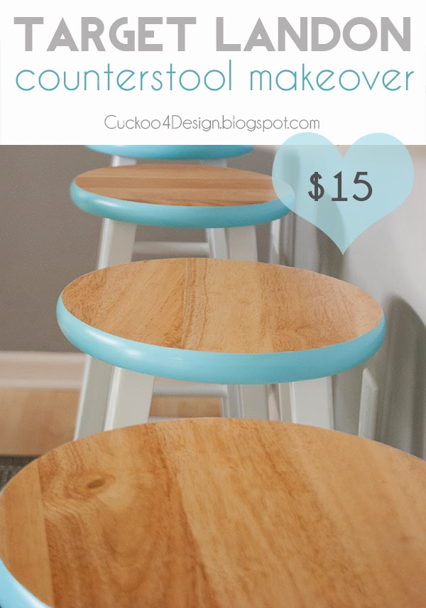 $15 Target Landon Counter Stool Makeover by Cuckoo4Design