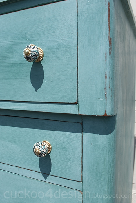 distressed chalk paint country style dresser
