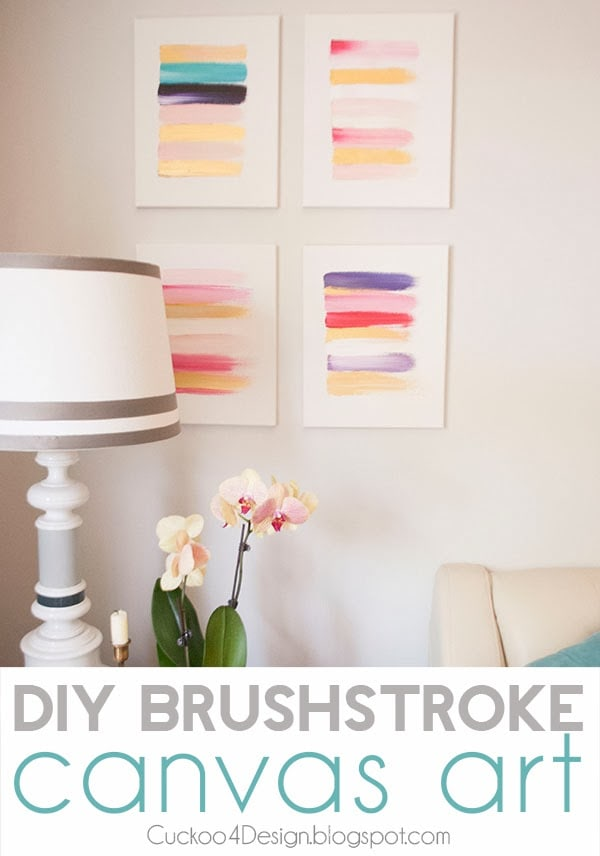 DIY brushstroke canvas art by Cuckoo4Design