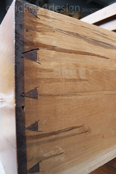 handcrafted dovetail detail