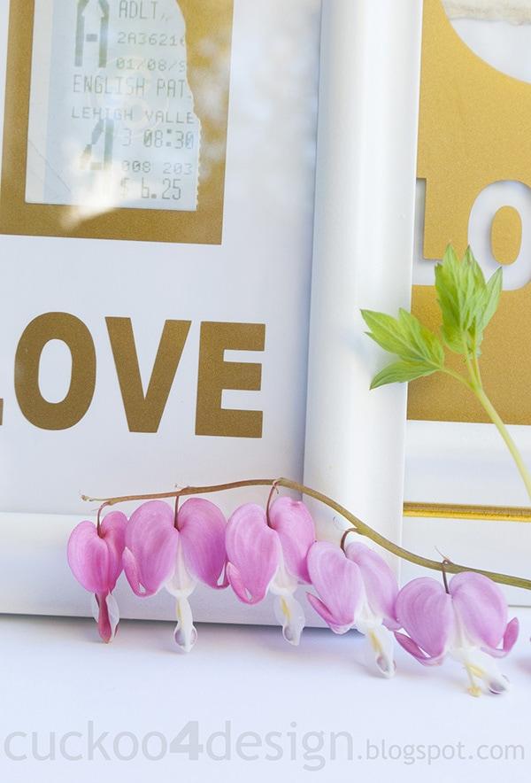 framing memorabilia in white and gold