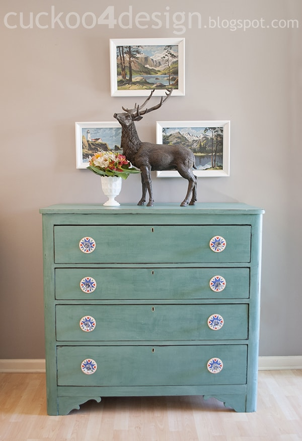 Cece Caldwell Destin Golf Green Chalk Paint Dresser Makeover Cuckoo4design