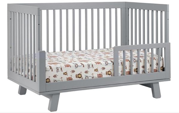 grey midcentury modern convertible crib