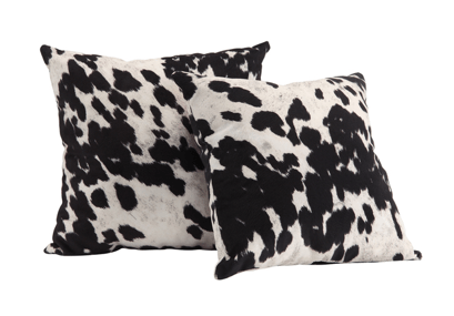Black and White Cow Hide Print Decorative Pillow