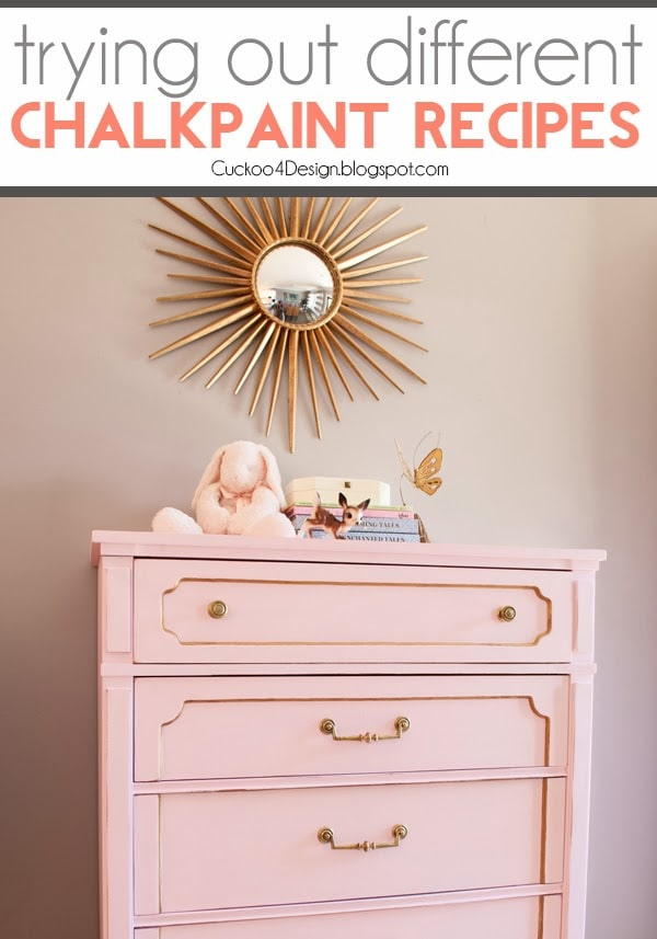 DIY chalk paint try-outs | Cuckoo4Design