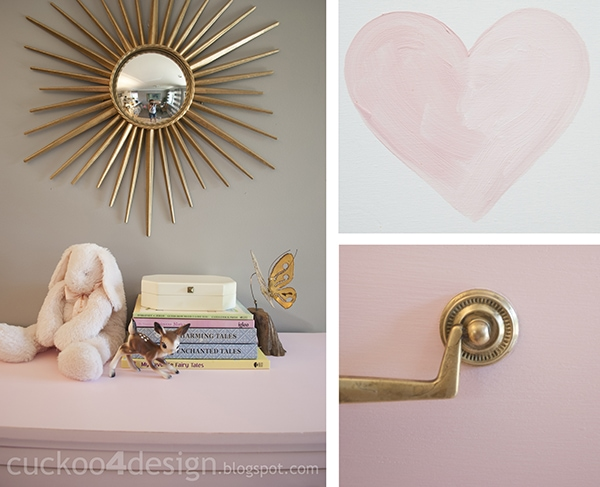 painting with pink DIY chalk paint