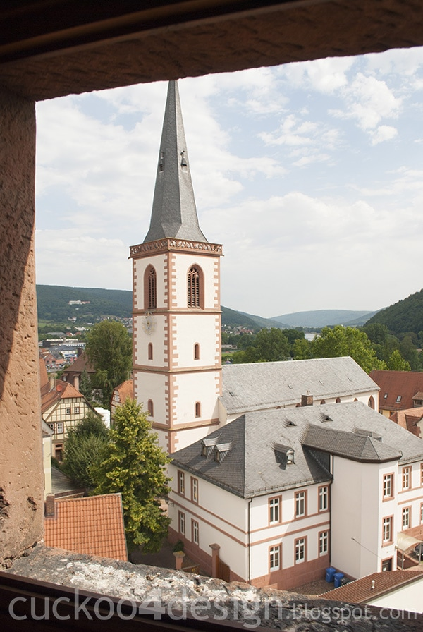 the views from the Bayersturm in Lohr