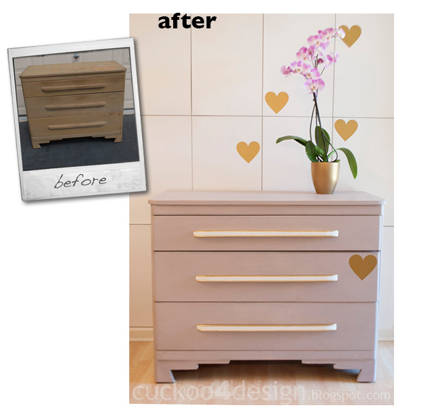 modern dresser makeover with chalk paint