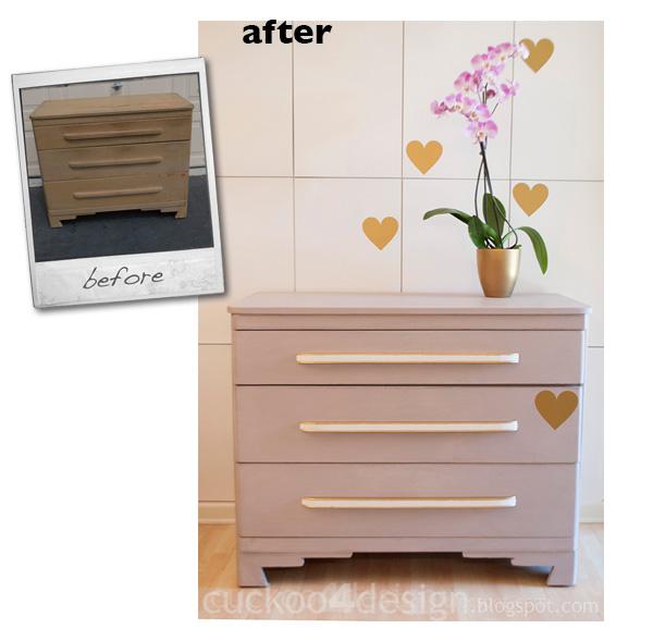 modern dresser makeover with chalk paint