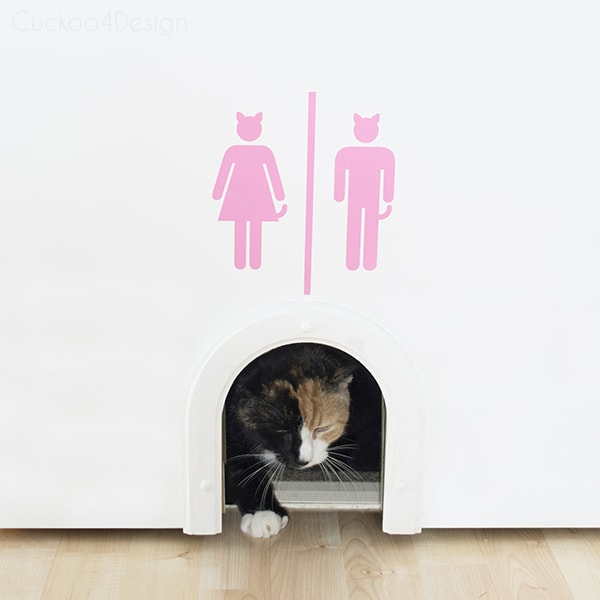 cat litter box sign by Cuckoo4Design