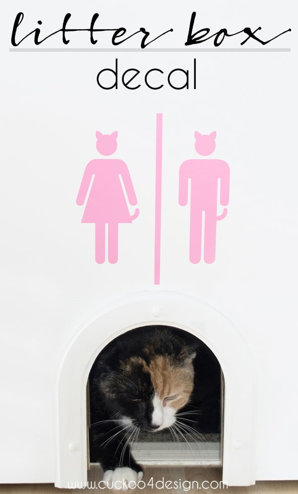 fun litter box sign in many colors