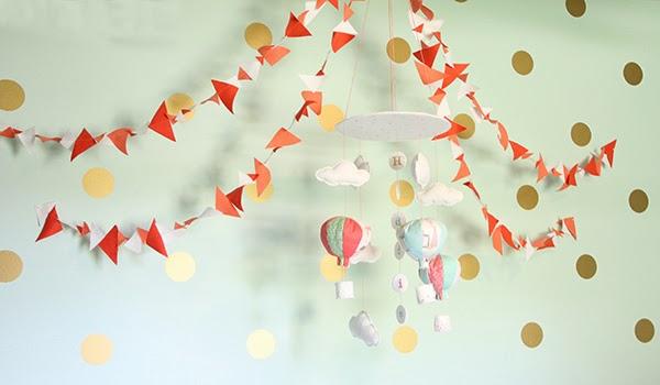 gold vinyl wall decals in nursery Cuckoo4Design