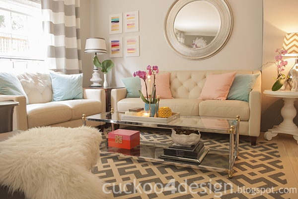 Gold And Pink Living Room Online