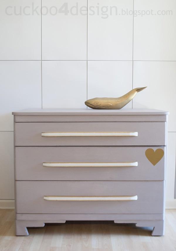 modern oak dresser in Annie Sloan Paloma Chalk Paint