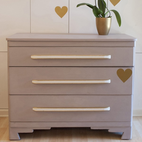 Modern Oak Dresser Makeover