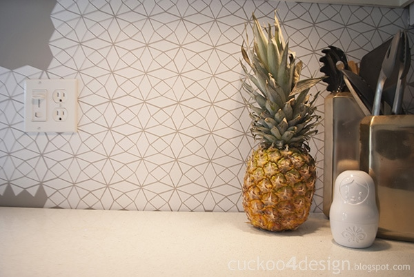 vinyl kitchen backsplash