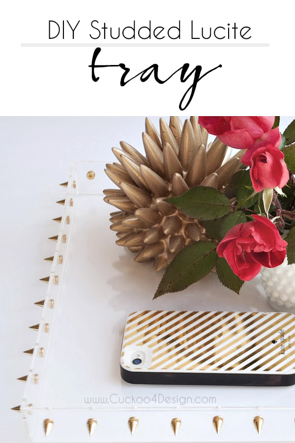 DIY studded acrylic or lucite tray