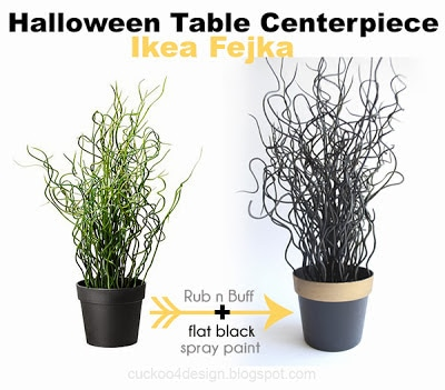 Ikea Fejka Halloween centerpiece by cuckoo4design