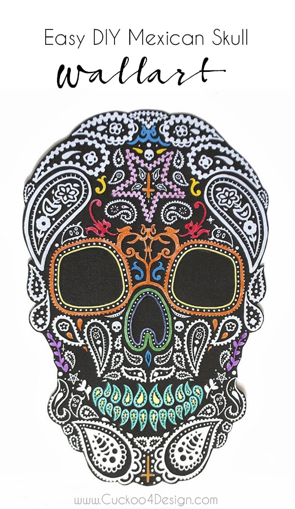 Mexican skull wallet idea and DIY - Cuckoo4Design
